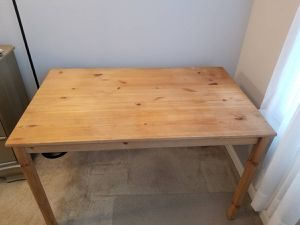 Unfinished wood table for Sale in Arlington, VA