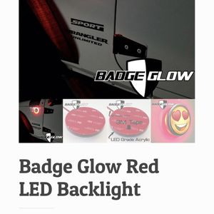 Badge Glow Red For Jeep Wrangler for Sale in East Providence, RI