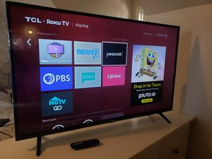 "TCL 43"" ROKU TV w/ 4k less than a year old for Sale in Takoma Park, MD"