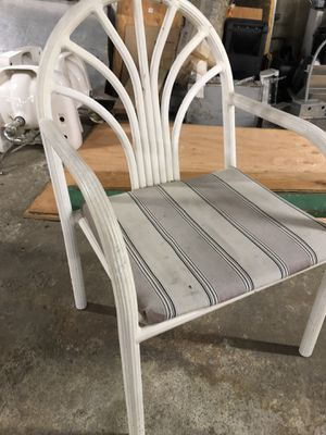 Pre-owned metal outdoor 24 patio chairs And two roundtables. Furniture business backyard general household for Sale in National City, CA