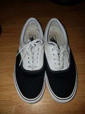 Vans size 10 black an white for Sale in Tampa, FL