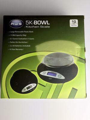 AWS 5K-BOWL Kitchen Scale 11 lb capacity for Sale in La Puente, CA