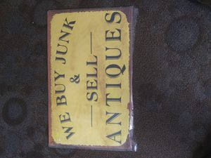 Antique metal sign size 24 ins wide and 15 high for Sale in Lake Stevens, WA