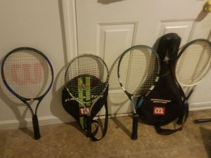 4 tennis rackets 3 Wilson and one babolat pure drive 20 each or 60 for all four for Sale in Nashville, TN