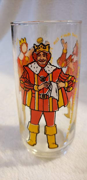 vintage 1970s Burger King Knickerbocker glass cup collectible 1979 for Sale in Moreno Valley, CA