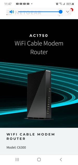Netgear C6300 AC1750 DOCSIS 3.0 WiFi Cable Modem Router Combo (C6300) for Sale in Oakland, CA