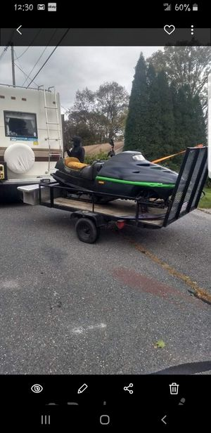 4x6 trailer tilt and has a gate perfect little toy hauler for Sale in Marlborough, MA