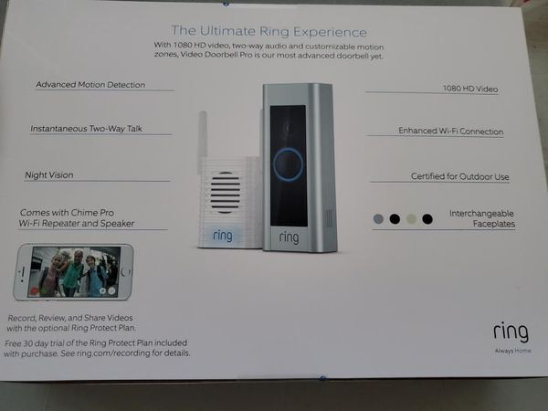 Ring video doorbell pro with chime