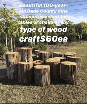 100-year-old Dade County pine stump's for Sale in Miami, FL