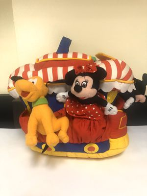 DISNEY TOON TOWN TROLLEY FRICTION CAR MICKEY & MINNIE STUFFED ANIMAL PLUSH TOY for Sale in Manteca, CA