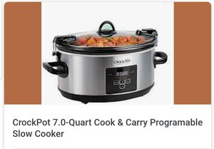 CrockPot 7.0 Quart Programable Slow Cooker for Sale in Celebration, FL