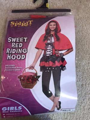 Red Riding Hood Child Halloween costume-like New!!medium(8-10) for Sale in Maple Grove, MN