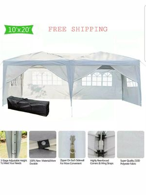 10x20 white canopy gazebo tent backyard weddings pool party removable walls for Sale in North Miami Beach, FL
