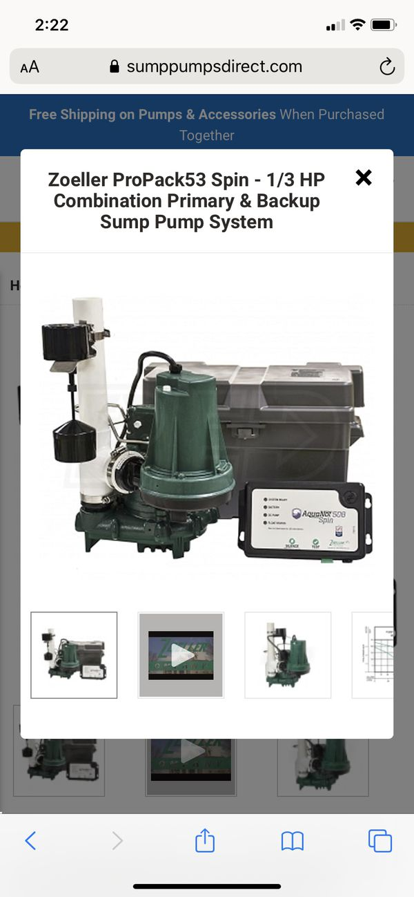 Zoeller battery back up sump pump system