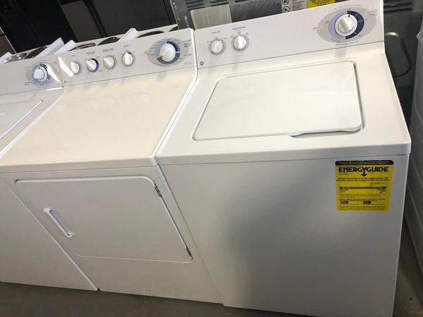 GE TOP LOAD WASHER AND DRYER ELECTRIC WITH WARRANTY