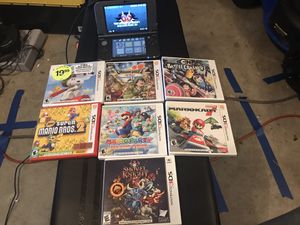 Nintendo New 3DS XL - Black With Games for Sale in Federal Way, WA