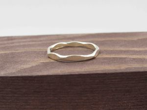 Size 6.5 Sterling Silver Thin Hammered Band Ring Vintage Statement Engagement Wedding Promise Anniversary Bridal Cocktail Friendship for Sale in Lynnwood, WA