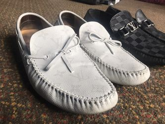 {HOT SELL} White & Black REAL Louis Vuitton Loafers for Sale in Nashville,  TN