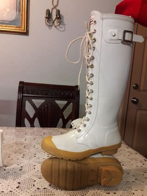 Hunter watling lace up rain boots size 7 for Sale in Stockton, CA