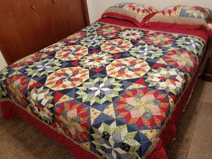 Queen bed, mattress, box springs and bed frame for Sale in Saint Joseph, MO