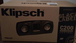 Klipsch black label c200 home theater center speaker for Sale in Huntington Beach, CA