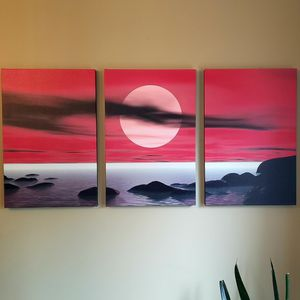 Large Triptych Art On Canvas for Sale in Washougal, WA