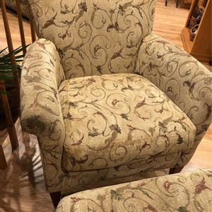 Crate and Barrel Accent Chair And Ottoman for Sale in Redmond, WA