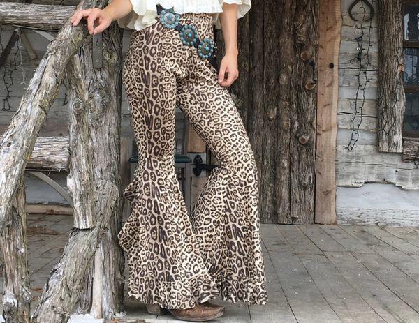 BOOT CUT leopard pants
