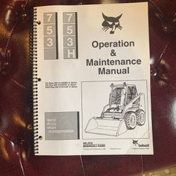 Bobcat 753 Operation And Maintenence Manual for Sale in Edgewood,  WA