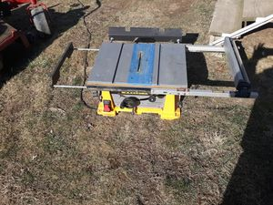 Dewalt table saw no face book text only for Sale in Middleburg, PA