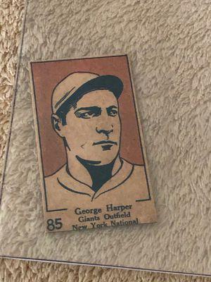 CARD BASEBALL GEORGE HARPER GIANTS NEW YORK # 85 for Sale in Downey, CA