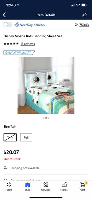 Moana Twin bedding set for Sale in Garland, TX