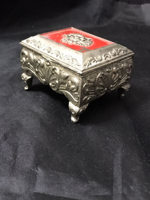 Vintage Filigree Footed Silver Trinket Box for Sale in Coolidge, AZ