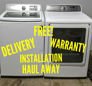 FREE DELIVERY/INSTALLATION/WARRANTY/HAUL AWAY - Newer Model Samsung Washer & Dryer for Sale in Hilliard, OH