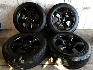 "20"" Chevy Tahoe Suburban Silverado FACTORY BLACK Wheels Rims Tires 275/55/20 for Sale in Santa Ana, CA"