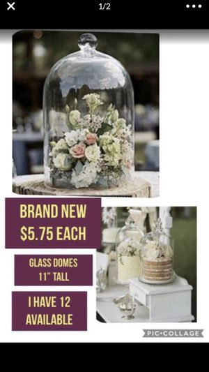 Glass domes ( weddings, parties or home decor) $5.75 for Sale in Buena Park, CA