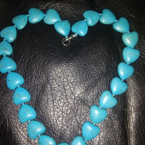 Turquoise Heart Bead Necklace For Your Valentine 💝 for Sale in Renton, WA
