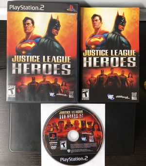 Justice league heroes ps2 for Sale in Hacienda Heights, CA