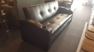 Brand new brown faux leather sofa futon for Sale in San Diego, CA
