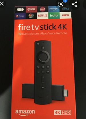 Fire tv stick 4K with alexa voice 4k for Sale in Plant City, FL