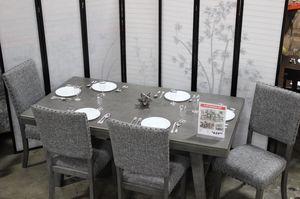 Stylish 6 PC Dining Set, Grey for Sale in Santa Fe Springs, CA