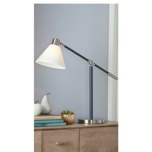 Brand new Desk Lamp Adjustable Atm & Shade Cool Gray @ Brushed Nickel Finish Opal Glass Shade each $25 Christmas gift for Sale in Auburn, WA