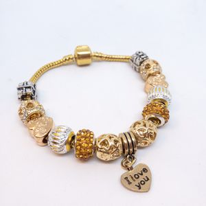 "Gold Finished ""I Love You"" Charm Bracelet for Sale in Las Vegas, NV"