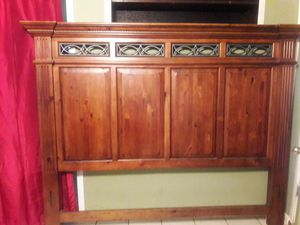 King size bed frame come with headboard footboard and rails for Sale in Gulfport, MS