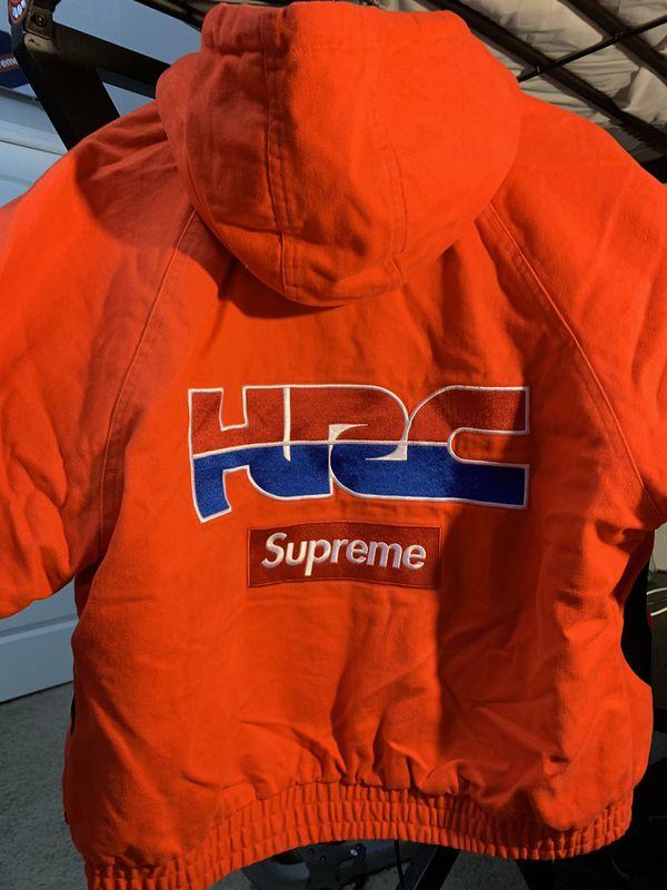 Medium, new, Red Supreme Honda Racing Jacket