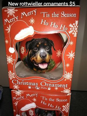 New Rottwieller lovers ornaments for Sale in Tacoma, WA