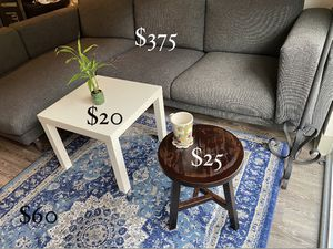 MOVING OUT SALE!! Bundle price: Sofa, side table, coffee table, Turkish carpet for Sale in Harrison, NJ