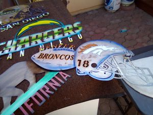 Broncos and chargers custom white freezer works great for Sale in Colorado Springs, CO