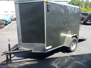 Brand New 5 X 8 Enclosed Vnose Trailer for Sale in Bronx, NY