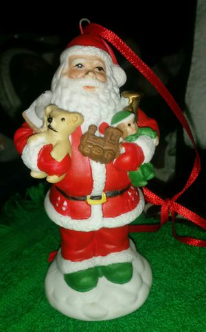 Milano Sculpture Porcelain Santa and toys Christmas Ornament By Eda Mann 1982 for Sale in Hannibal, MO
